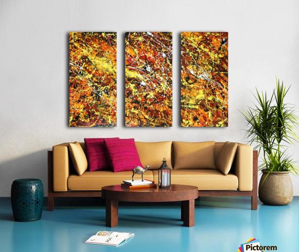 yellowy Split Canvas print