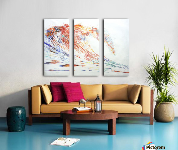 The Wave Split Canvas print