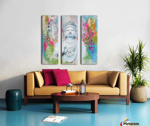 Buddha Split Canvas print
