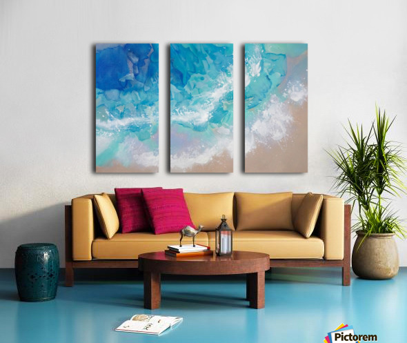 Guadeloupe Split Canvas print