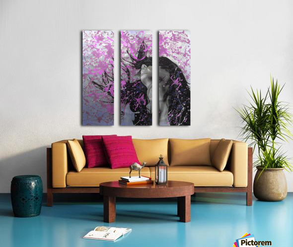 Beat Split Canvas print