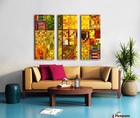 YELLOW COLLAGE Split Canvas print