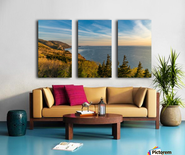 Coastal Pleasures Split Canvas print
