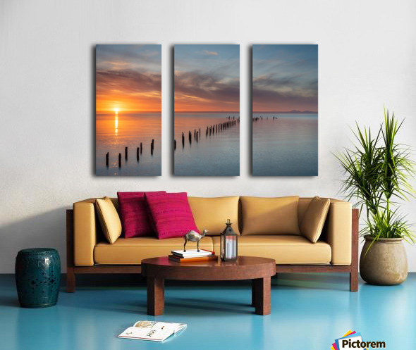 Sunset Pier Split Canvas print