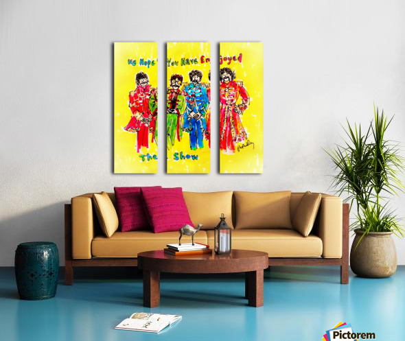 The Beatles - Enjoyed The Show Split Canvas print