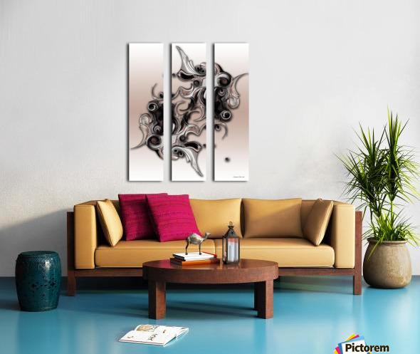 Soft Impression Of Dysplastic Departure Split Canvas print