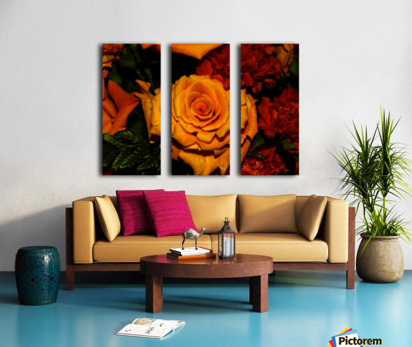 E (2) Split Canvas print