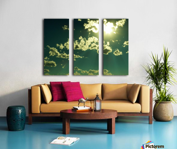 E (3) Split Canvas print