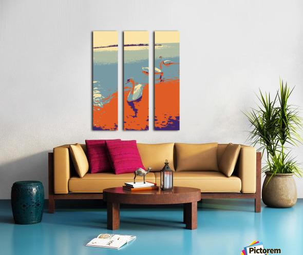 Swans Split Canvas print