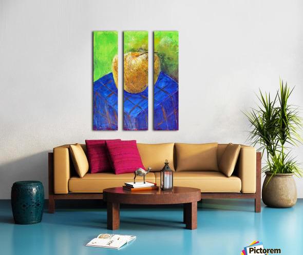 08.APPLE2014year oil on canvas 30X40 cm1500$ Split Canvas print