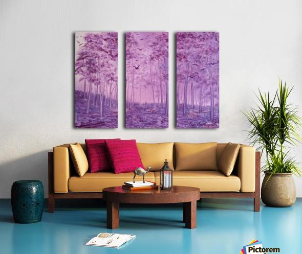 Purple Woods Split Canvas print