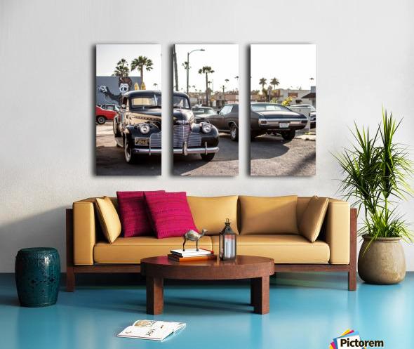 Classy Old school Car Split Canvas print