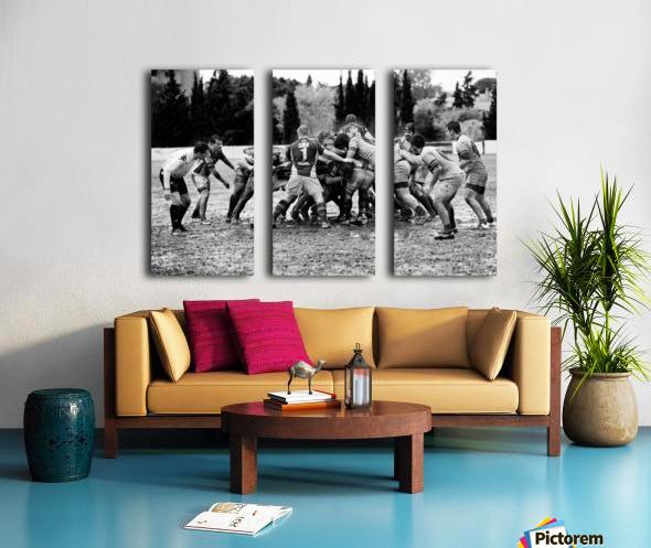 Rugby Mêlée Split Canvas print