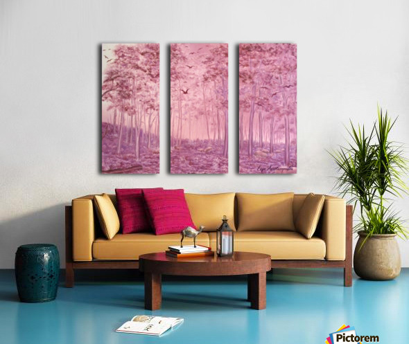 Pink Woods Split Canvas print
