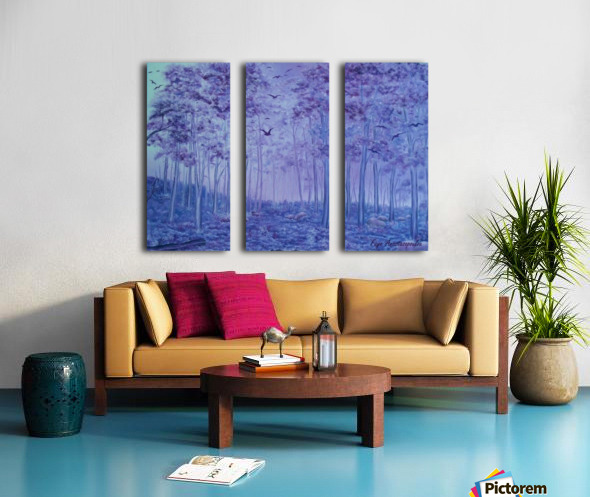Lavender Woods Split Canvas print