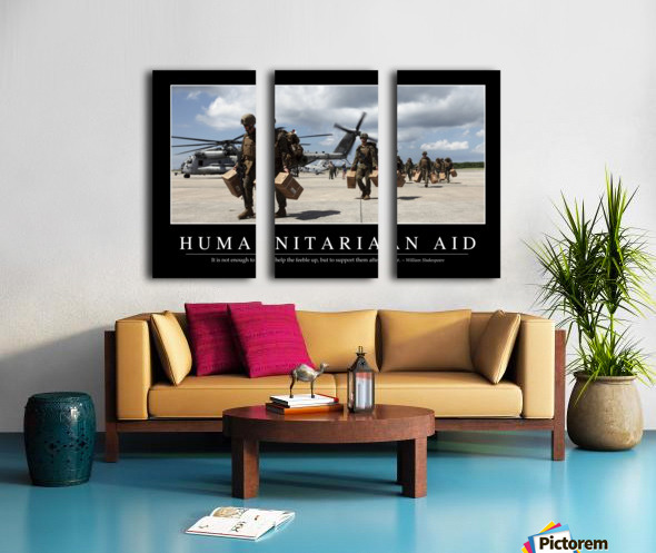 Humanitarian Aid: Inspirational Quote and Motivational Poster Split Canvas print