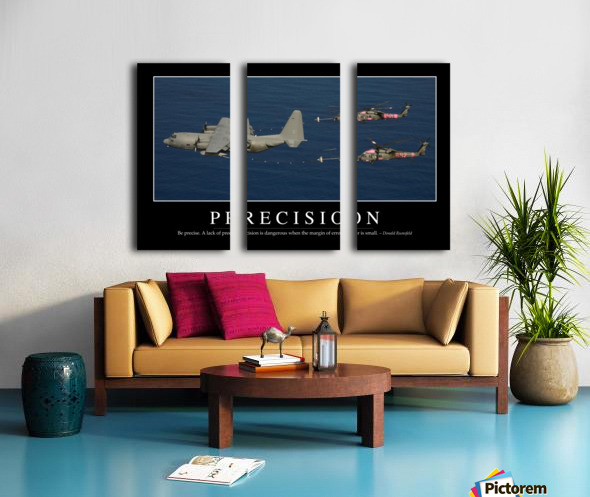 Precision: Inspirational Quote and Motivational Poster Split Canvas print