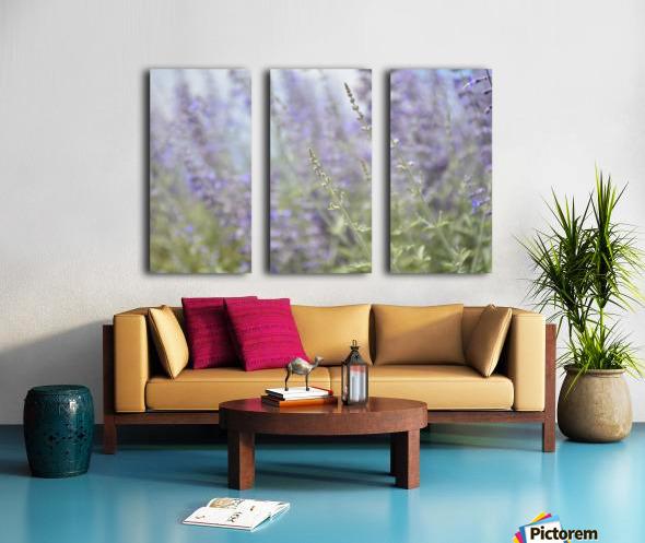 Soft Blue Spring Blossoms Photograph Split Canvas print
