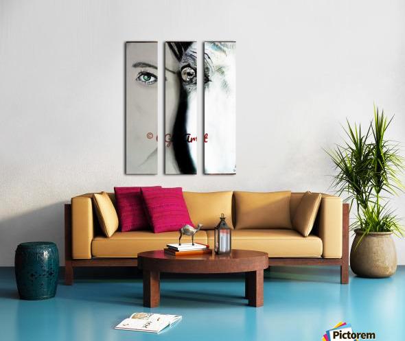 Reflection 2 Split Canvas print