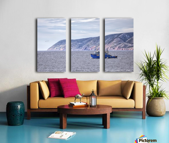 The Atlantic Gale with text Split Canvas print
