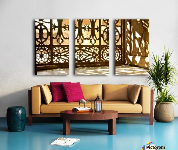 Egyptian Heritage Architecture Light & Shadow Split Canvas print