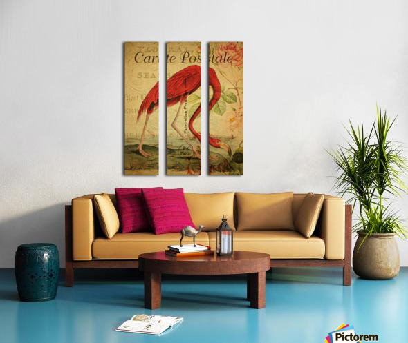 Beautiful Flamingo_OSG Split Canvas print