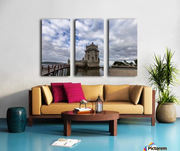 Torre de Belem Split Canvas print