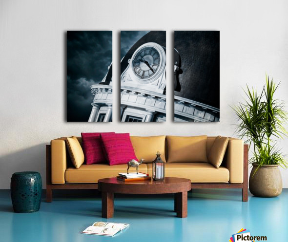 Kingstons Clock Split Canvas print