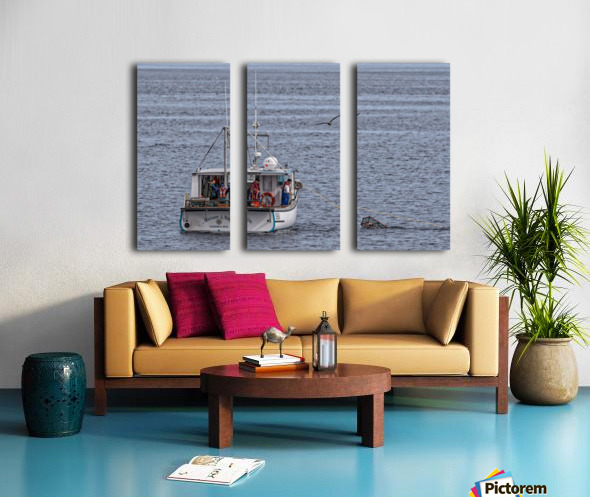 Lobster Fishing for a Living Split Canvas print