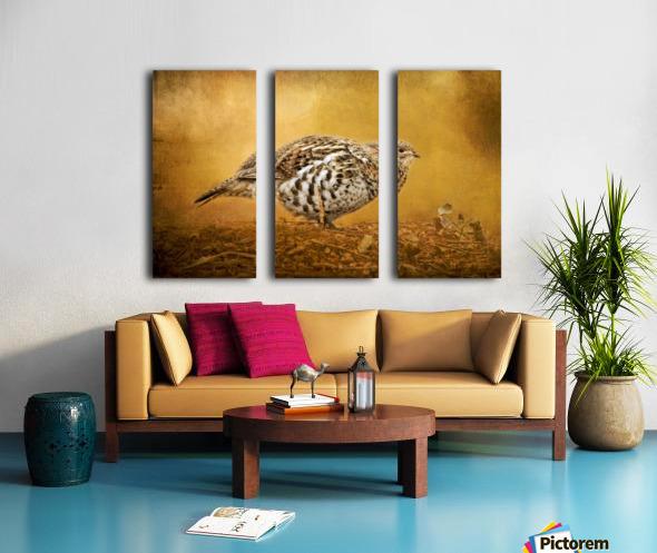 Female Ruffed Grouse Split Canvas print
