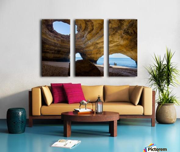 Benagil cave Split Canvas print