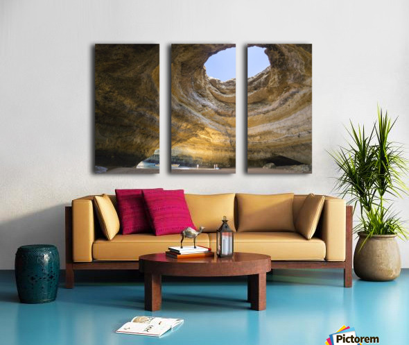 Benagil cave Split Canvas print