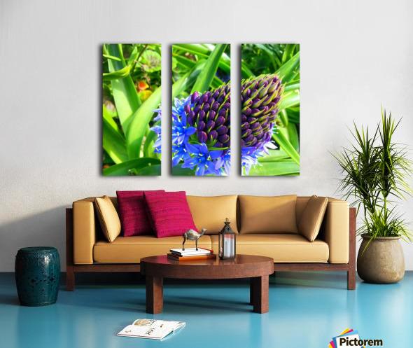Blue Flower Split Canvas print