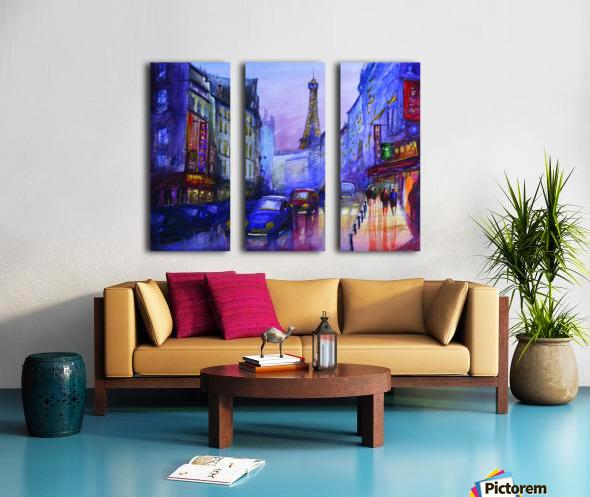 Evening in Paris Split Canvas print