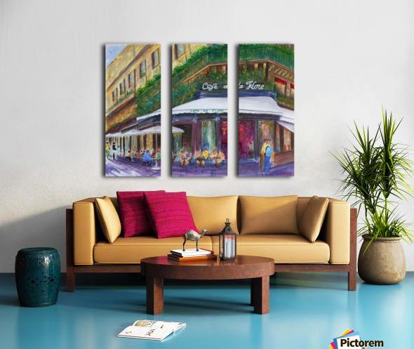 Cafe The Flore Paris Split Canvas print