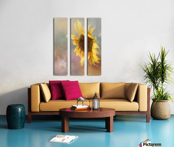 Be The Sunflower - Sunflower Art by Jordan Blackstone Split Canvas print
