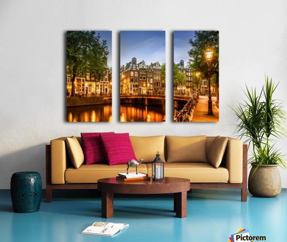 AMSTERDAM Idyllic impression from Singel Split Canvas print