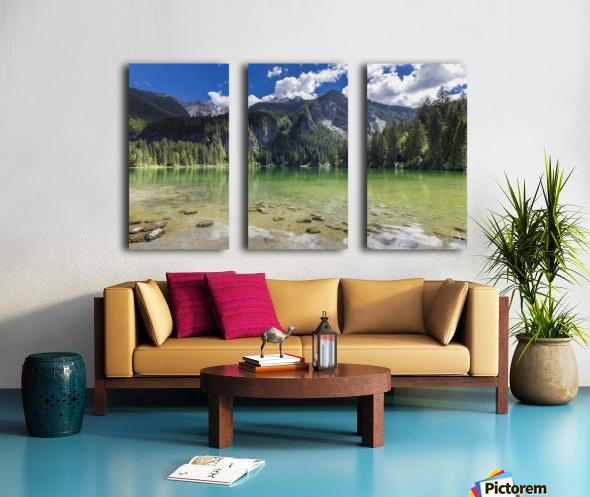 Lake of Tovel Split Canvas print