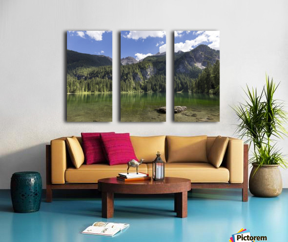 Lake of Tovel Split Canvas print
