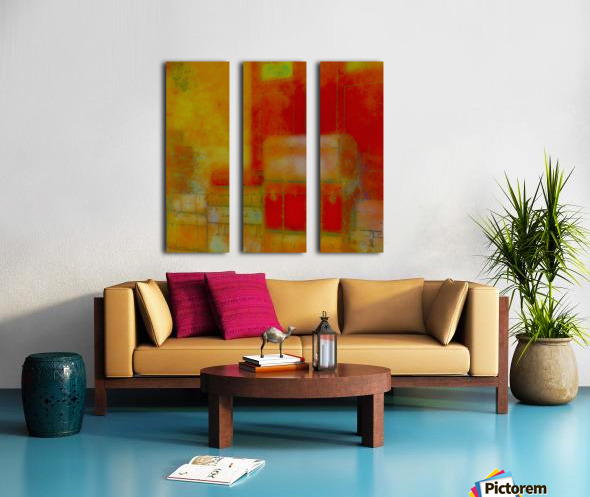 ARRIVALS Split Canvas print