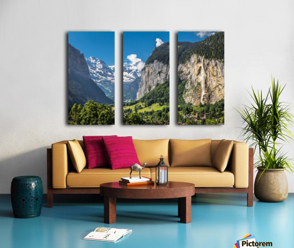 Valley of Waterfalls Split Canvas print
