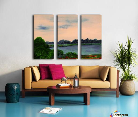 Evening Landscape Split Canvas print