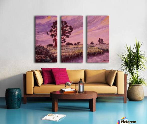 Evening Landscape 2 Split Canvas print