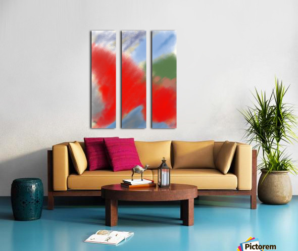 Abstract-red flame Split Canvas print