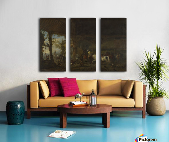 The Interior of a Stable Split Canvas print