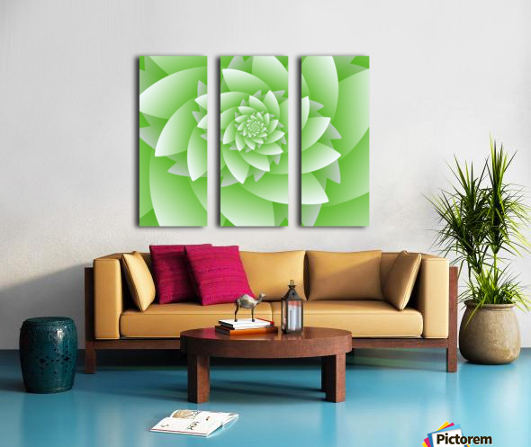 Greeny Floral Split Canvas print