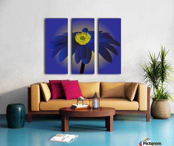 Anemone Blanda Flower Art Split Canvas print