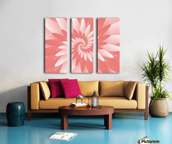 Spiral Flower Pattern Art Split Canvas print