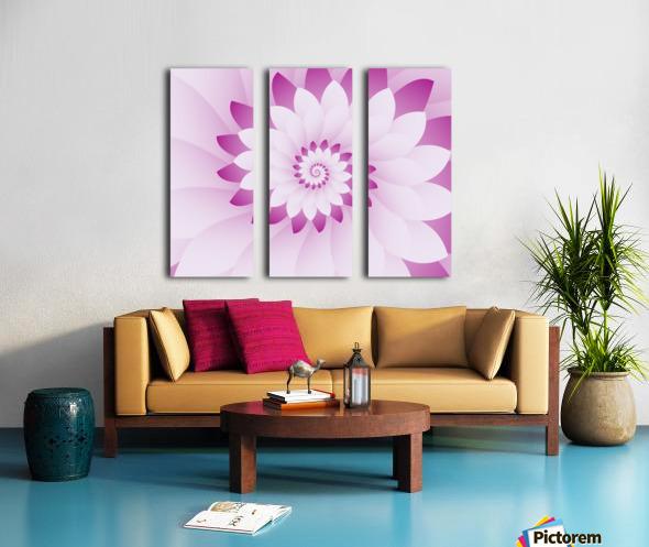 Abstract Pink & White Floral Design Art Split Canvas print