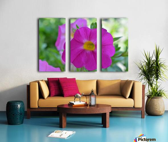Purple Flower Photograph Split Canvas print